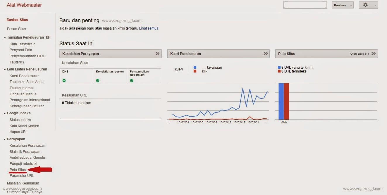 Sukses mendaftarkan URL ke Webmaster Google