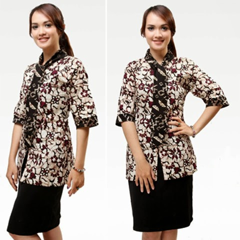 Contoh Model Baju Batik Kerja Guru Wanita Terbaru