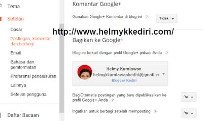 Share postingan otomatis kegoogle plus