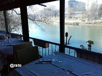 Vista sul Po del ristorante Da Catullo