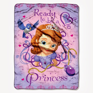 The Northwest Company Disney's Sofia The First Ready To Be A Princess Micro Raschel Blanket, 46