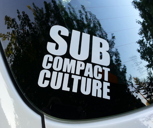 Subcompact Culture Decal