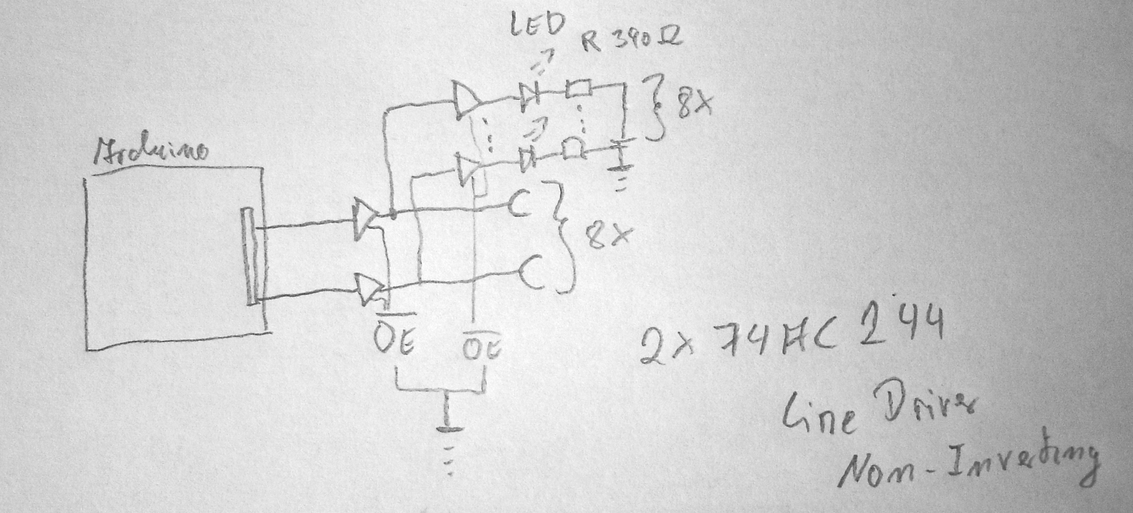 Story Building An Arduino Based Sequencer Part 1 Jtus Journey Mono Preamp On Ne5534 I Use Two Of This Line Drivers To Drive A Led And Buffered Gate Output So If Strange Things Happen The Are Burned