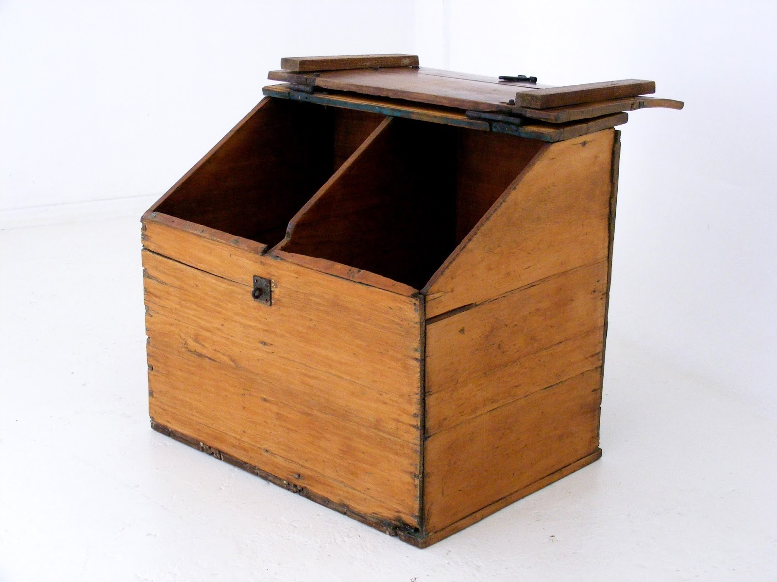 An Antique Yellowwood Wheat Bin. Would Work So Well As A Childs Toy Box, A  Laundry Basket Or Even A Recycling Bin, Such A Great Piece!