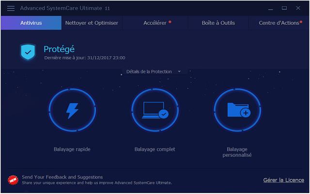 تفعيل برنامج الحماية Advanced SystemCare Advanced+SystemCare+