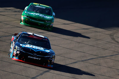 Christopher Bell (#20 GameStop Just Cause 4) leads Ryan Truex  (#11 LeafFilter Gutter Protection) during the #NASCAR Xfinity Series race.