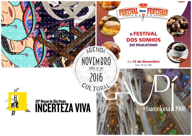 Agenda Cultural - Novembro 2016