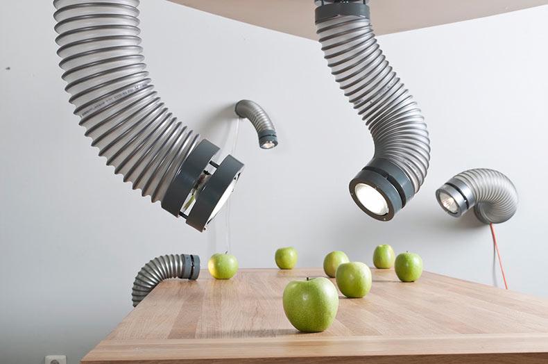 Lámparas Garganta Metálica basado por los tubos de ventilación
