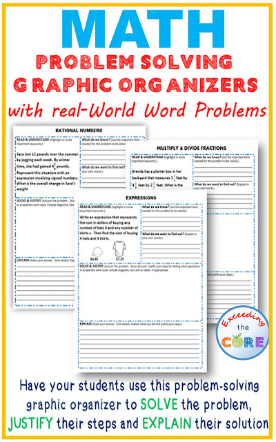 Exceeding the core problem solving with graphic organizers i created these problem solving graphic organizers for my students who struggle solving word problems and are unable to explain their worksolution ibookread Download