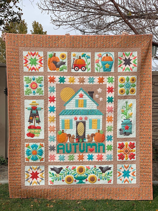 Autumn Love Quilt made by Lori Holt of Bee in my Bonnet, The Pattern by Riley Blake Designs