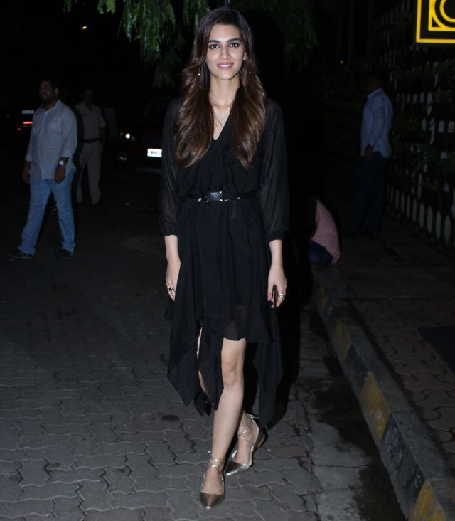 Kriti Sanon In Back Dress at Rohini iyer Birthday Bash