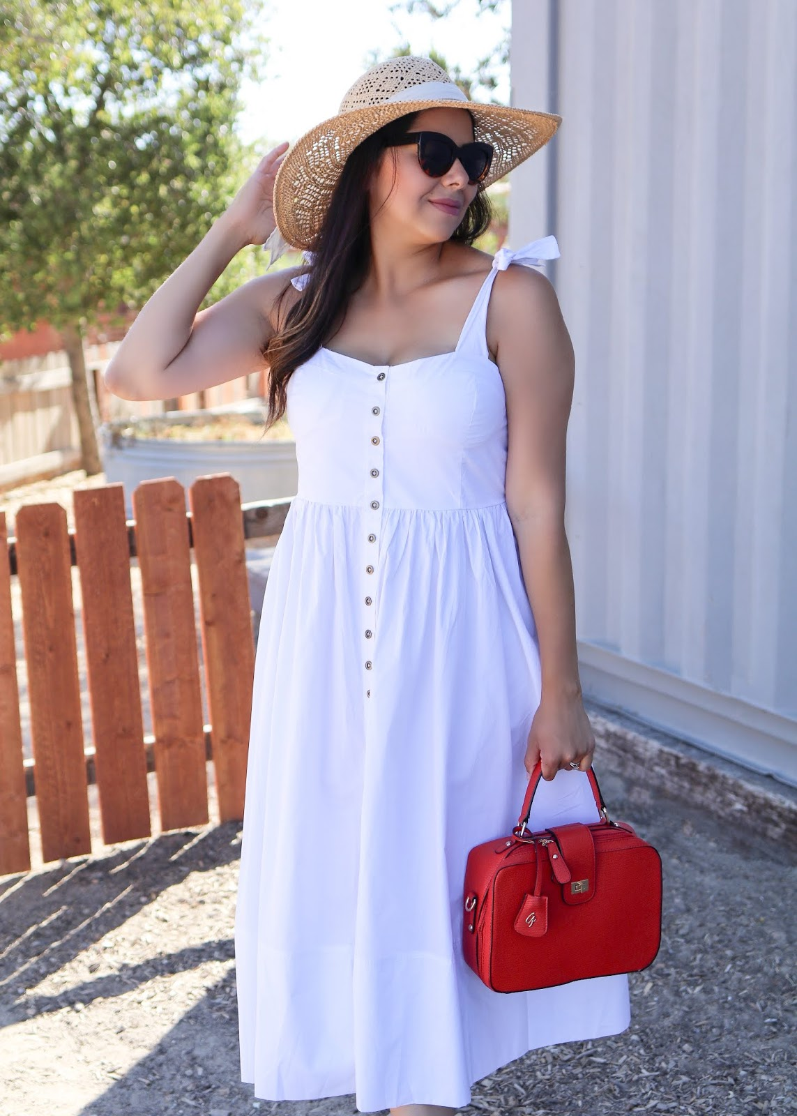 how to wear a white midi dress, what to wear in San Diego, San Diego fashion blogger