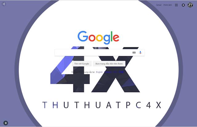 Cách thay đổi màu nền Google