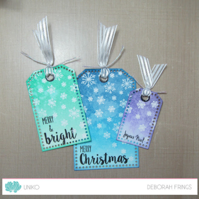 Trio of Christmas Tags - photo by Deborah Frings - Deborah's Gems