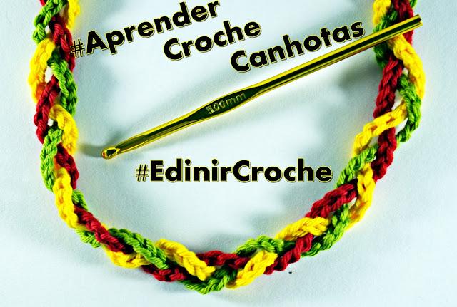 curso de croche para canhotos aprender croche canhotas laçada inicial aprender croche EdinirCroche