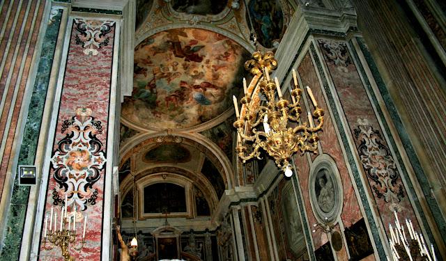chiesa, monumento, decorazioni, pareti, Gesù Nuovo Napoli