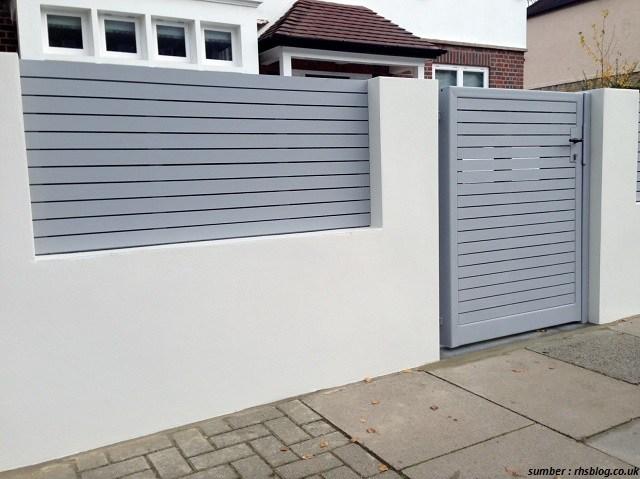 warna terbaik untuk pagar minimalis