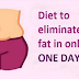 SEE HOW TO REMOVE ALMOST ALL BELLY FAT IN A SINGLE NIGHT, WITH THIS EMERGENCY DIET