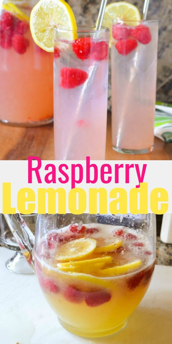 Sparkling Raspberry Lemonade Recipe is a refreshing easy to make recipe. Pink Lemonade can be turned into your favorite Raspberry Lemonade Cocktail by adding a shot of your favorite liquor like vodka from Serena Bakes Simply From Scratch.