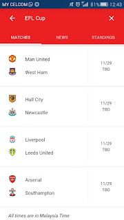 Kumpulan 8 kelab yang berjaya ke suku akhir Piala EFL