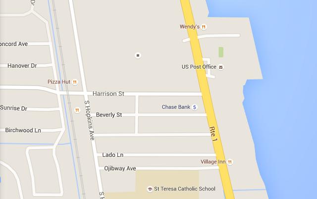 Washington Avenue (U.S. 1) just north of Harrison Street