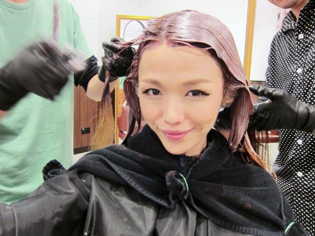 Ash Brown Pink Hair Shio chose a ash brown-pink
