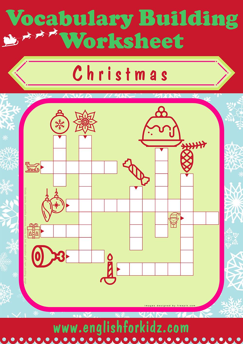 Christmas Crossword Puzzle Logo Nest Of Posies