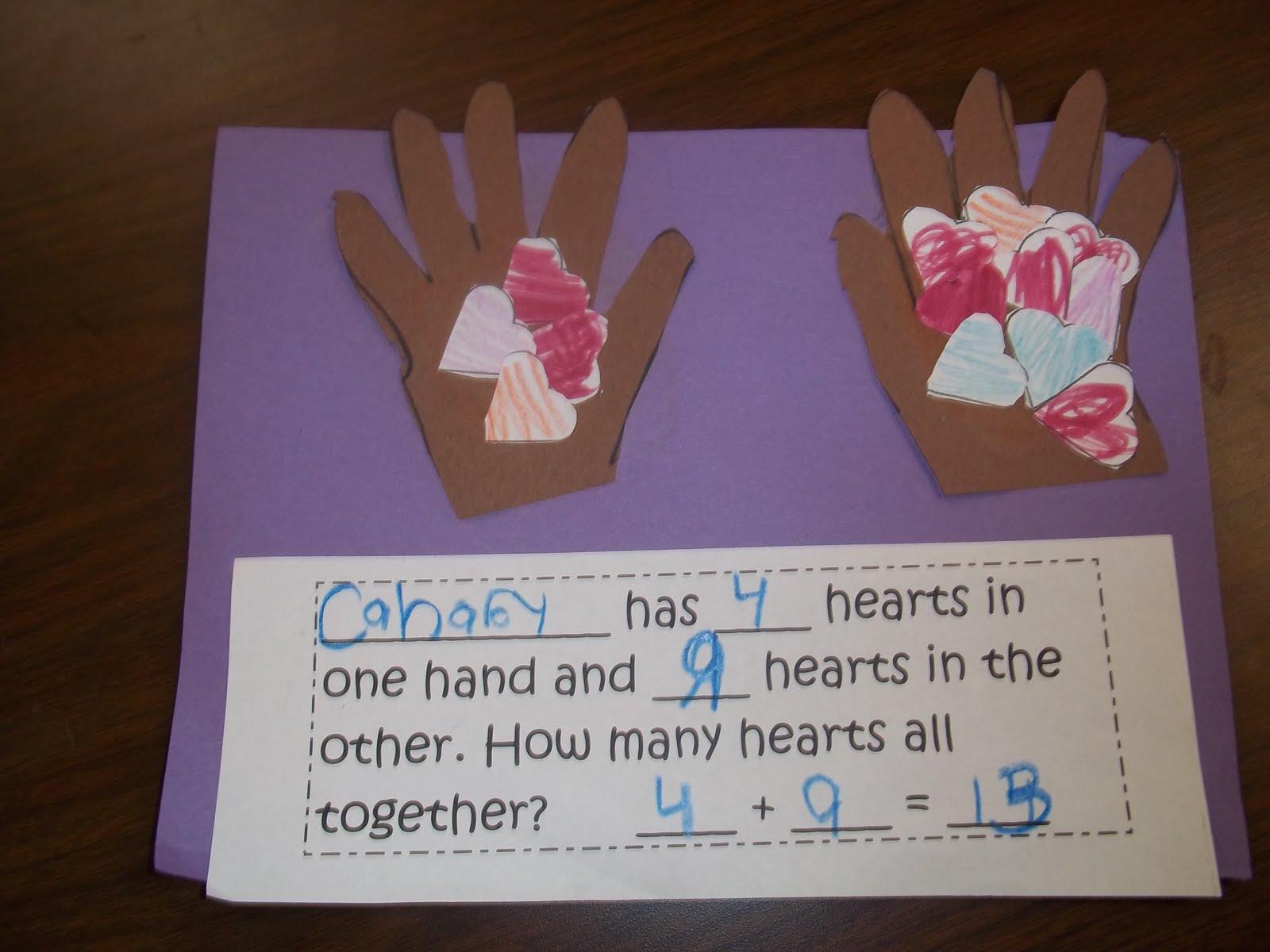 Mrs Wood S Kindergarten Class Valentine Math