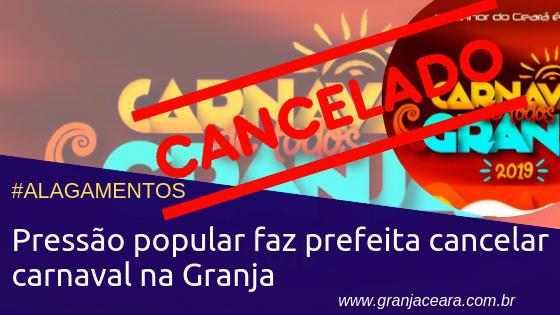 Pressão popular faz prefeita cancelar carnaval na Granja
