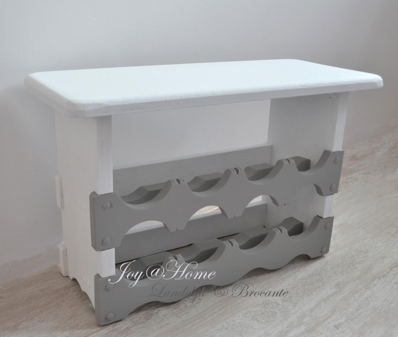 Houten Wijnrek Wit.Joy Home Living Soap Gifts Brocante Houten Wijnrek