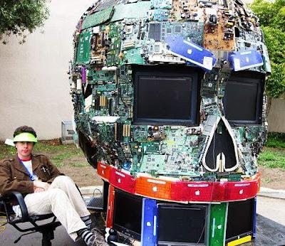 Computadoras y arte reciclado