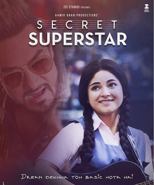 Aamir Khan Movie Secret Superstar Poster