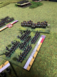 The Dutch-Belgium troops are hit in the flank by Imperial Guard cavalry!
