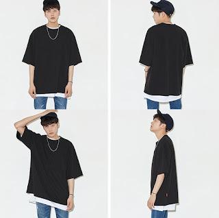 Kaos Pria Korea Terbaru Model Juni 2016 Unik Justin Beiber