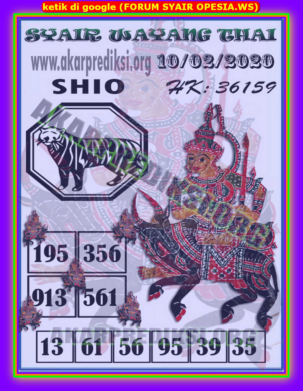 Kode syair Hongkong Senin 10 Februari 2020 169