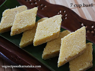 Seven cup burfi recipe in Kannada