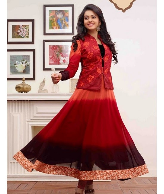 Raakul Preet Singh in Red Designer Dress