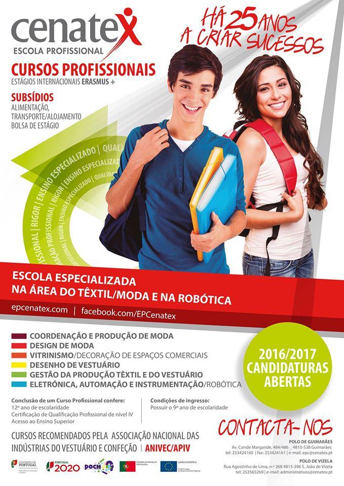 Cursos profissionais em Guimarães e Vizela (Inscrições abertas para o ano letivo 2016 / 2017)