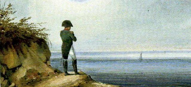 Napoleon Bonaparte mirando al mar