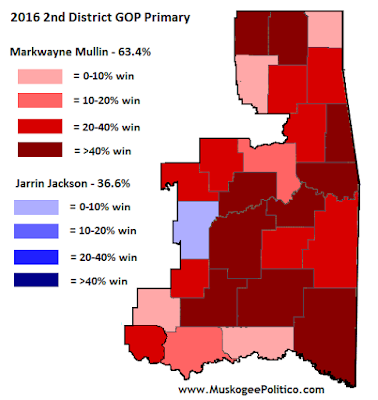Election Results Map: 2nd District GOP Primary
