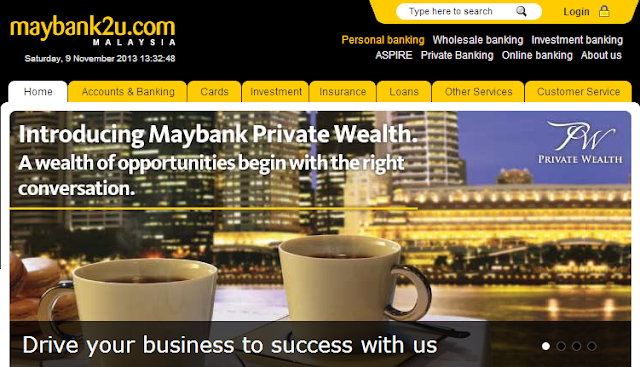 Maybank2u online banking