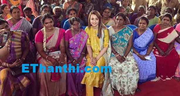 கழிவறை பெண்களின் மரியாதைக்கு அவசியம் - திரிஷா   Toilet women need respect - Trisha !