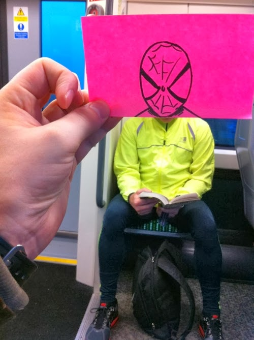 19-Spider-Man-October-Jones-Bored-on-the-Train-Designs-www-designstack-co