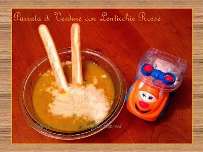 Passata di Verdure con lenticchie rosse – Ricetta per i bimbi