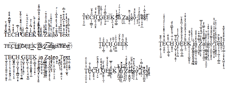 Zalgo Text Generator (aka Glitch Text Generator) | The