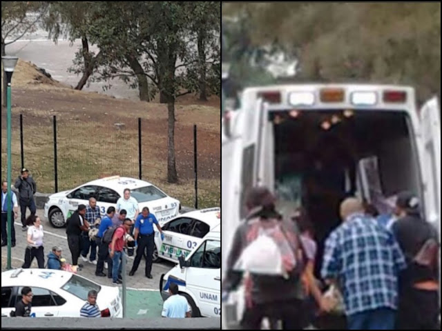 Gatilleros se enfrentan en la UNAM y deja dos narcos ejecutados