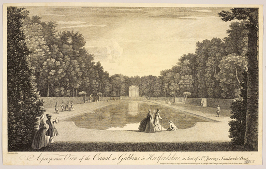 Photograph of etching of The Canal At Gubbins courtesy of Royal Collection Trust / © HM Queen Elizabeth II 2018