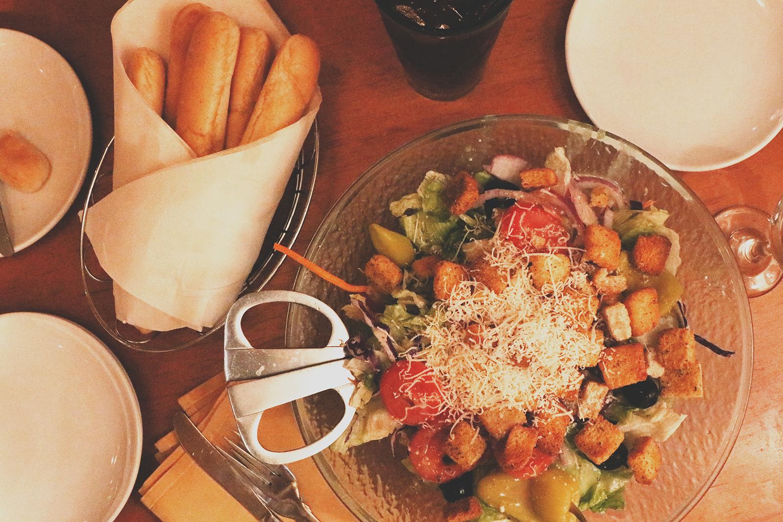 salada do olive garden