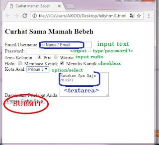 contoh script form pada html