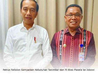 Petrus Fatlolon Sampaikan Kebutuhan Tanimbar dan PI Blok Masela ke Jokowi